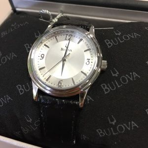 Bulova Classic Leather Ladies Watch 96T58